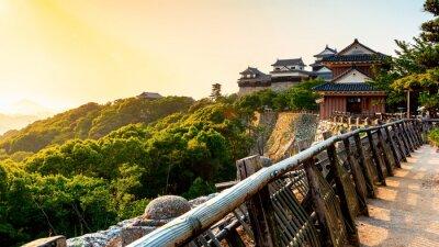 Naklejka Ancient Matsuyama Castle in Matsuyama, Ehime, Japan