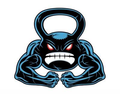 Naklejka angry kettlebell
