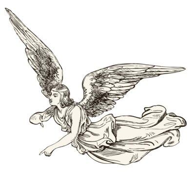 Naklejka anioł