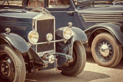Naklejka Antique cars, vintage process