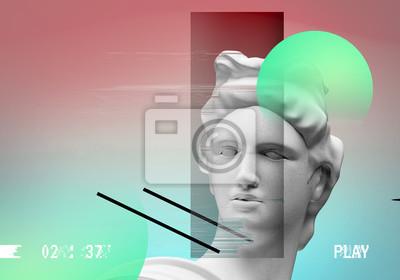 Apollo background concept. 3D rendering.