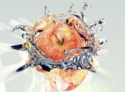 Naklejka apple Faling i rozpryskiwania do wody