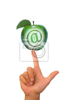 Apple równoważenie Finger znakiem @.