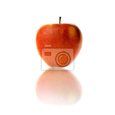 Naklejka Apple samodzielnie na białym tle