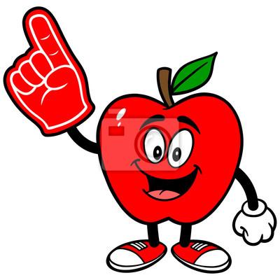 Apple z pianki palca