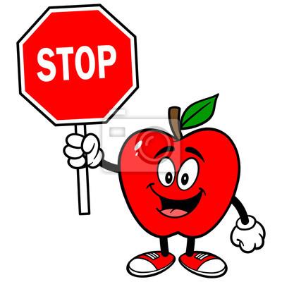Apple z znak stopu