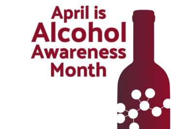 Naklejka April is Alcohol Awareness Month concept. Template for background, banner, card, poster with text inscription. Vector EPS10 illustration.
