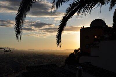Naklejka Arabskie słońce wieczorem