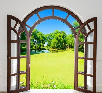 Naklejka Arch drzwi otwarte staw