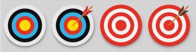 Naklejka Archery target with arrow. Vector illustration.