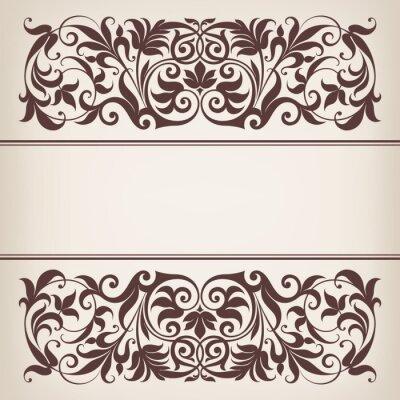 archiwalne ramki granicznym dekoracyjny ozdobny wektor kaligrafia