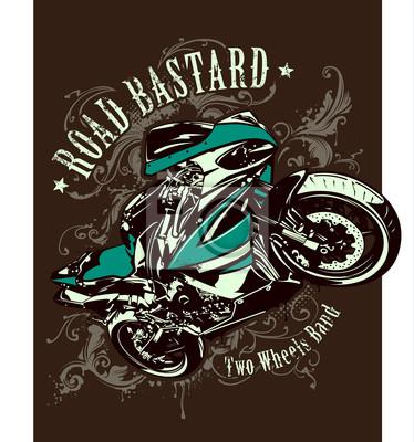Archiwalne zdjęcie z motocykla sportowego