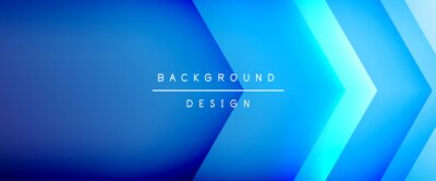Naklejka Arrow lines, technology digital template with shadows and lights on gradient background. Trendy simple fluid color gradient abstract background with dynamic straight shadow lines effect