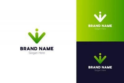 Arrow Logo Design, Letter W Logo Design