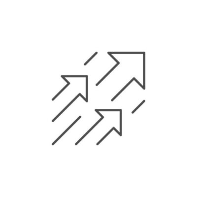 Naklejka Arrows or move forward line icon