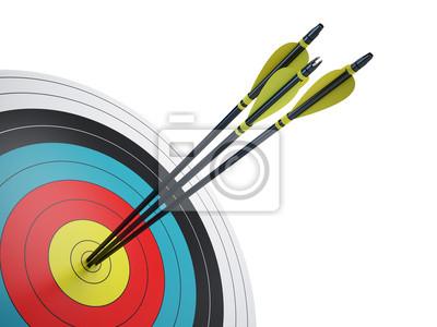 Naklejka . Arrows uderzenie centrum cel - koncepcji sukces