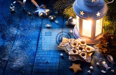 Art Boże Narodzenie z światła i świątecznej Decora