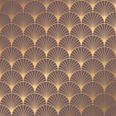 Naklejka Art Deco Pattern