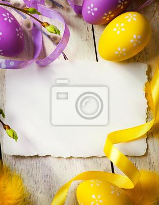 art Karty z pozdrowieniami Wielkanoc z pisanek