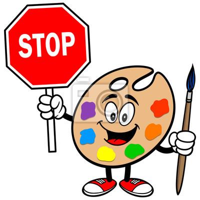 Art Palette znakiem stop