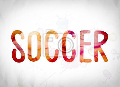 Art Soccer Koncepcja Akwarela Słowo