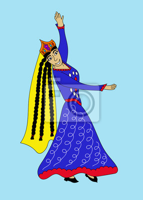 Asian kobieta tańczy