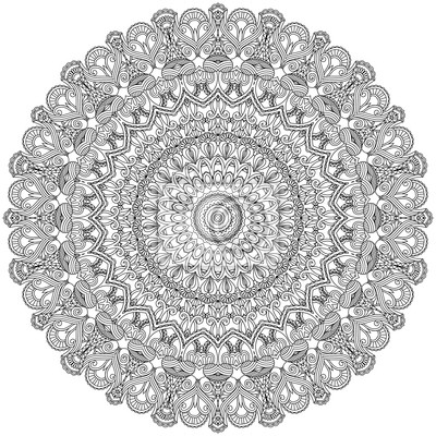 Asian ozdobne koronki. Dekoracyjne mandala