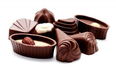 Naklejka Asortyment cukierków czekoladowych izolowane