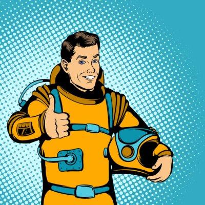 Naklejka Astronauta koncepcja, styl comics