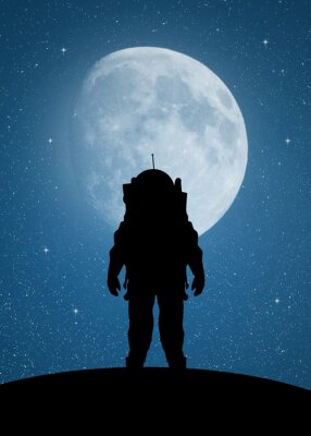 Naklejka Astronauta na Marsa