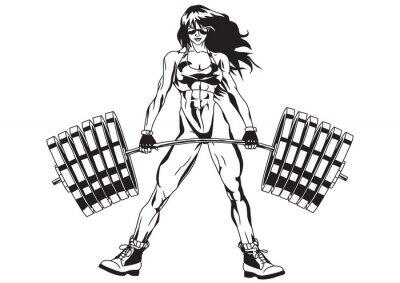 Naklejka Athletic dziewczyna