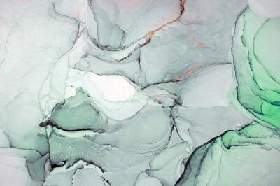 Naklejka Atrament, farba, abstrakcja. Zbliżenie obrazu. Kolorowy obraz abstrakcyjny tło. Farba olejna o dużej strukturze. Szczegóły wysokiej jakości. Atrament alkoholowy nowoczesne malarstwo abstrakcyjne, wspó