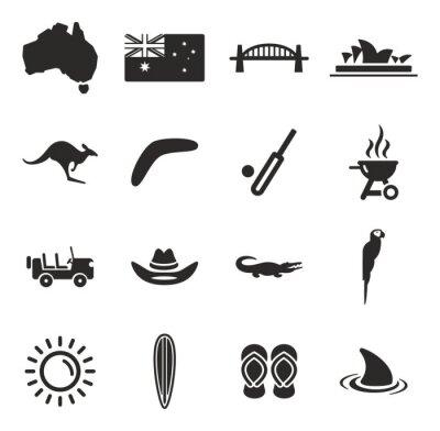 Naklejka Australia Ikony