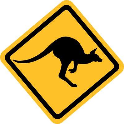Naklejka Australia kangaroo sign