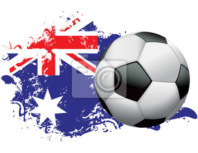 Australia Piłka nożna Grunge design