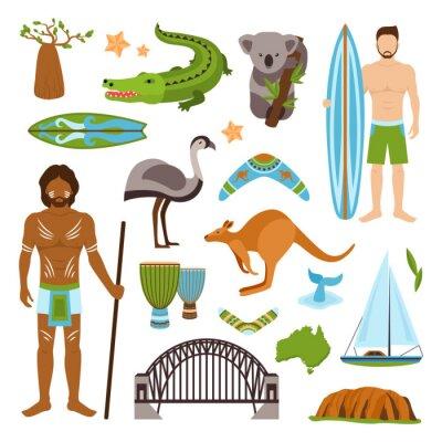 Naklejka Australia zestaw ikon
