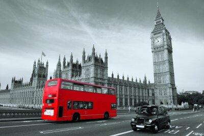 Naklejka Autobus w Londynie