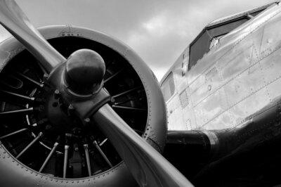Naklejka Avion hélice