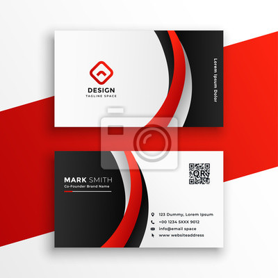 awesome red business card design template