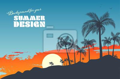 Naklejka Background for your summer design
