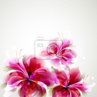 Background Tender z uprawy kwiatów abstrakcyjna
