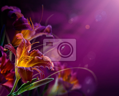 background.with streszczenie kwiatowy copy-space