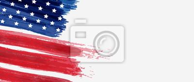 Naklejka Background with USA painted flag