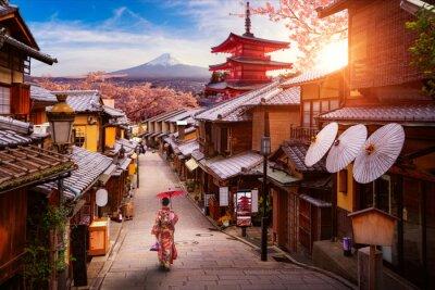 Naklejka Backgroung concept for travel in Japan image