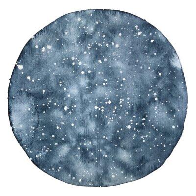 Naklejka Backround akwarela koło nocnego nieba