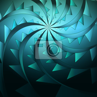 Bączek niebieski streszczenie symetryczny kształt vector zdradliwy