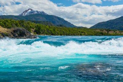 Naklejka Baker zbiegu rzek i rzeki Neff, Chile