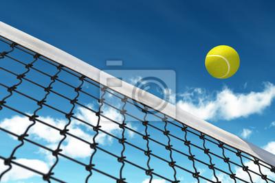 Naklejka Ball Tenis na Net