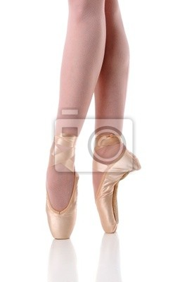Ballerina w Dancing stóp na Pointe