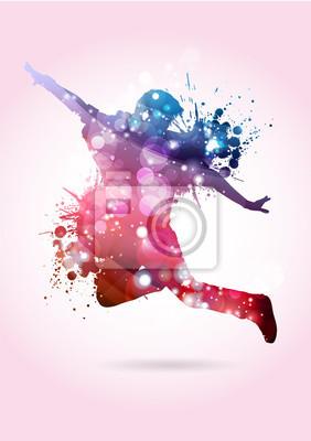 Naklejka Ballerino, baleriny con Macchie di colore